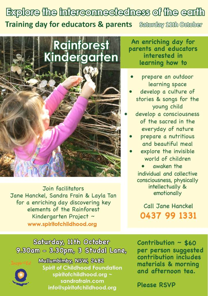 Training Day_Rainforest Kindergarten_'Explore the Interconnectedness of the Earth' 11th Oct. '14