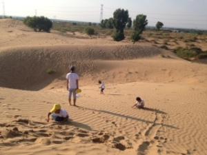 sand dunes of genghis khan land